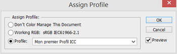Fig 5.2 La commande Assign Profile